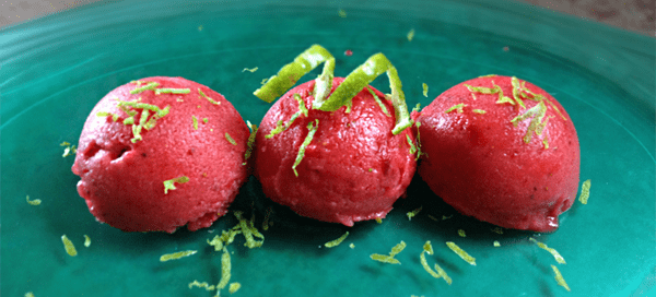 Strawberry Lime Sorbet | Our Paleo Life