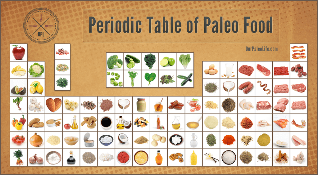 Periodic Table Of Paleo Food Our Paleo Life Our Paleo Life