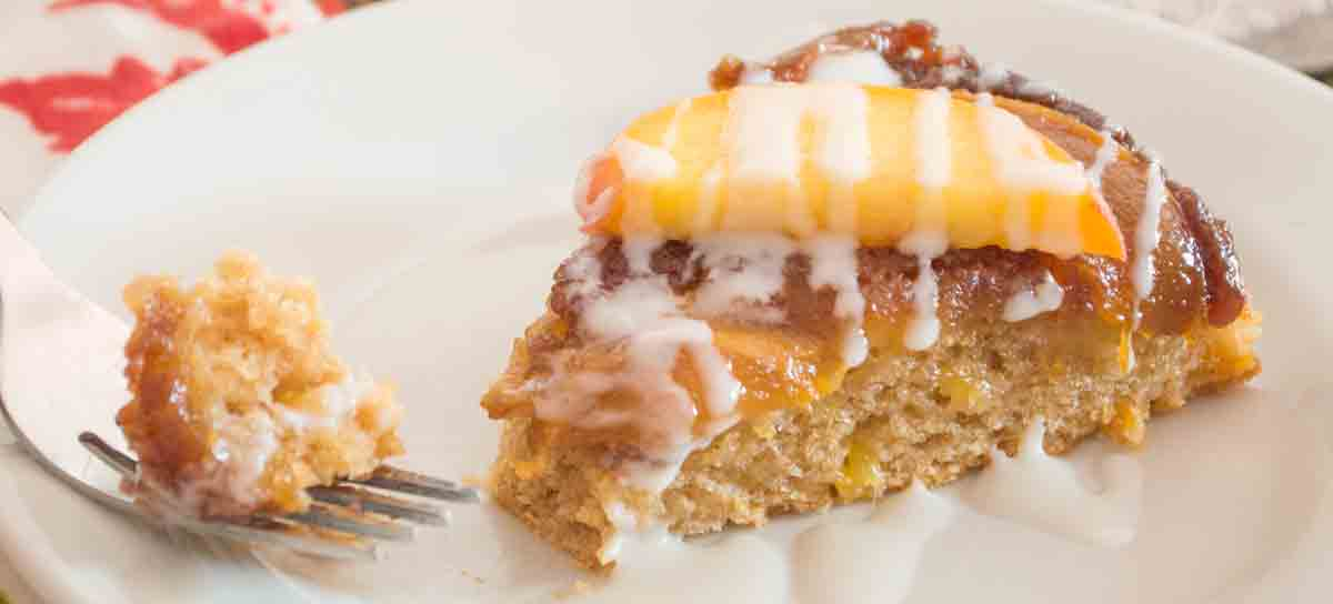 Upside Down Peach Cake {grain-free; dairy-free option}