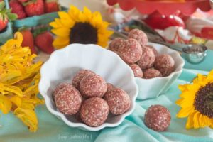 Strawberry Lemonade Bites {grain-free; dairy-free} by Our Paleo Life