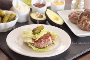 Bacon Blue Burgers {low-carb; primal} Our Paleo Life