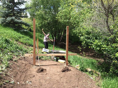 First Studs and Columns for Chicken Coop