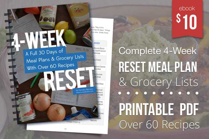 Get the 4-Week Reset Meal Plan eBook Now!