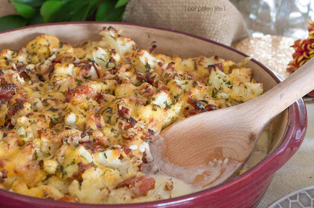 Low Carb Cauliflower Au Gratin