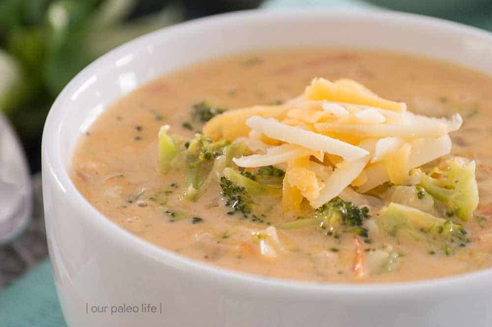 Smoky Broccoli Cheese Soup {low-carb; primal}