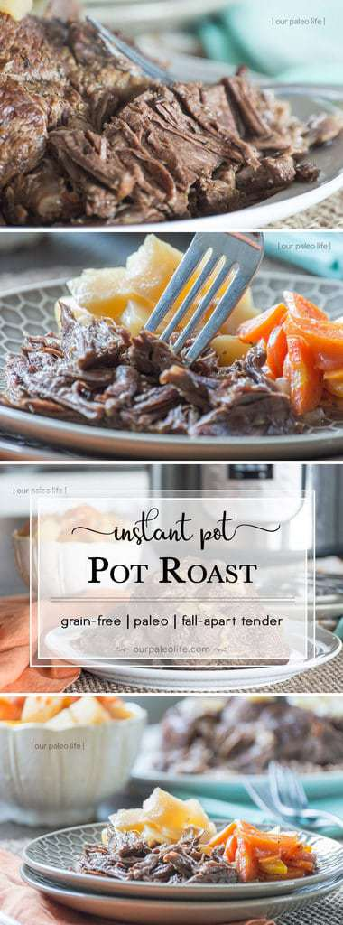 This pot roast cooks up fast and tender in the Instant Pot, making for a perfect quick & easy family dinner any time.