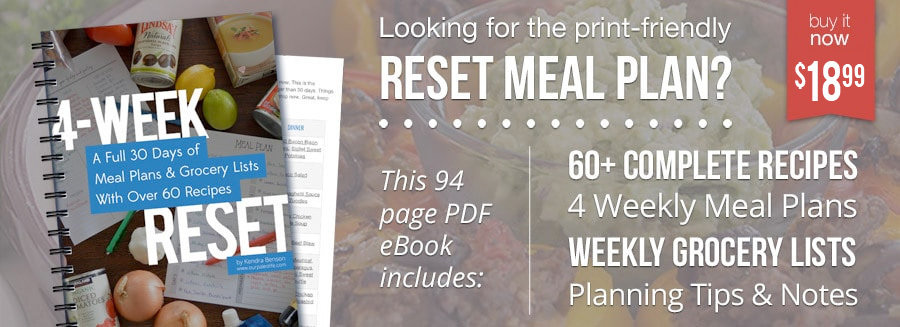 Get the 4-Week Reset Meal Plan eBook Now