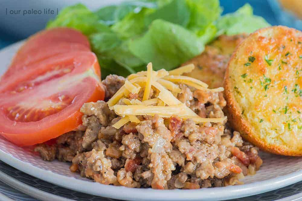 Low-Carb Cheeseburger Sloppy Joes {primal}