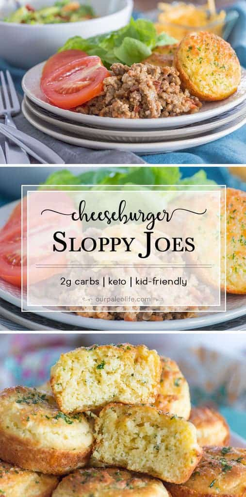 Sloppy Joes just got a fun new twist: Cheeseburger! With very little tomatoes and lots of creamy cheese, these sloppy joes are lower in carbs, making this the perfect keto family dinner.