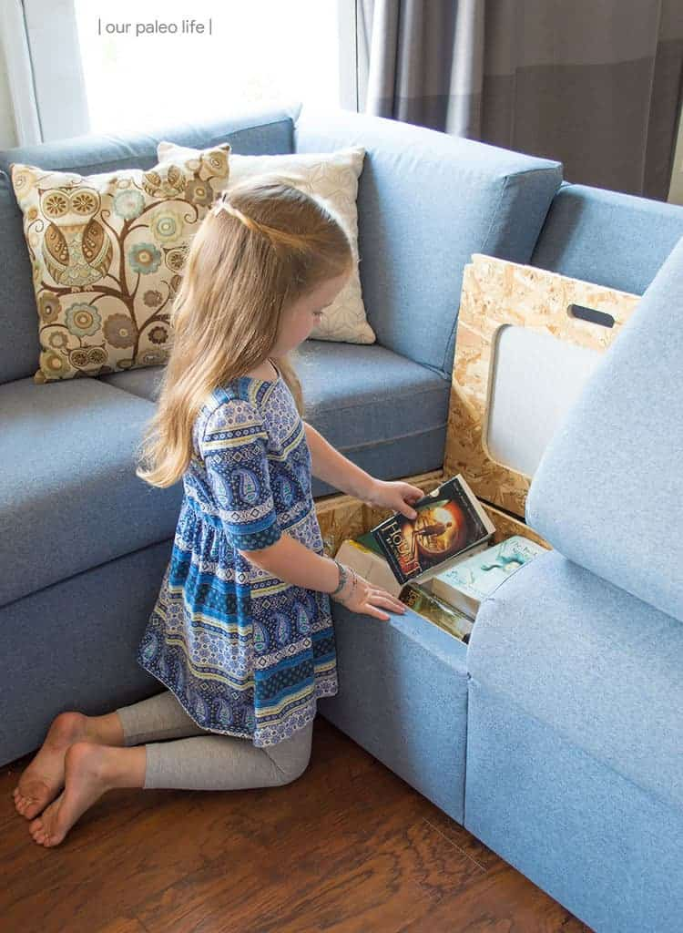 Home Reserve Sectional Review {kid & pet friendly; built-in storage; customizable}