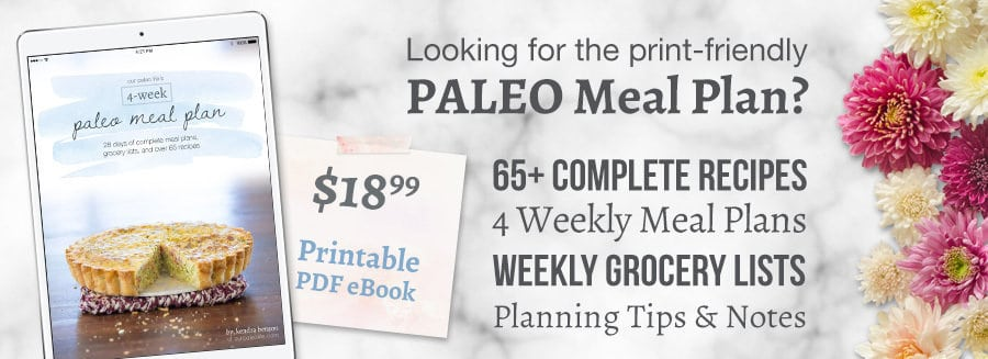 Get the Paleo Meal Plan eBook