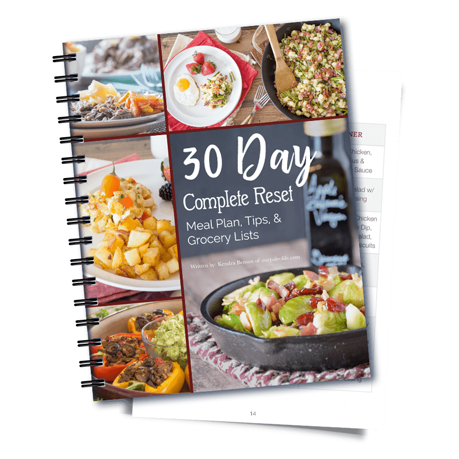 30 Day Complete RESET Meal Plan & Grocery List PDF eBook