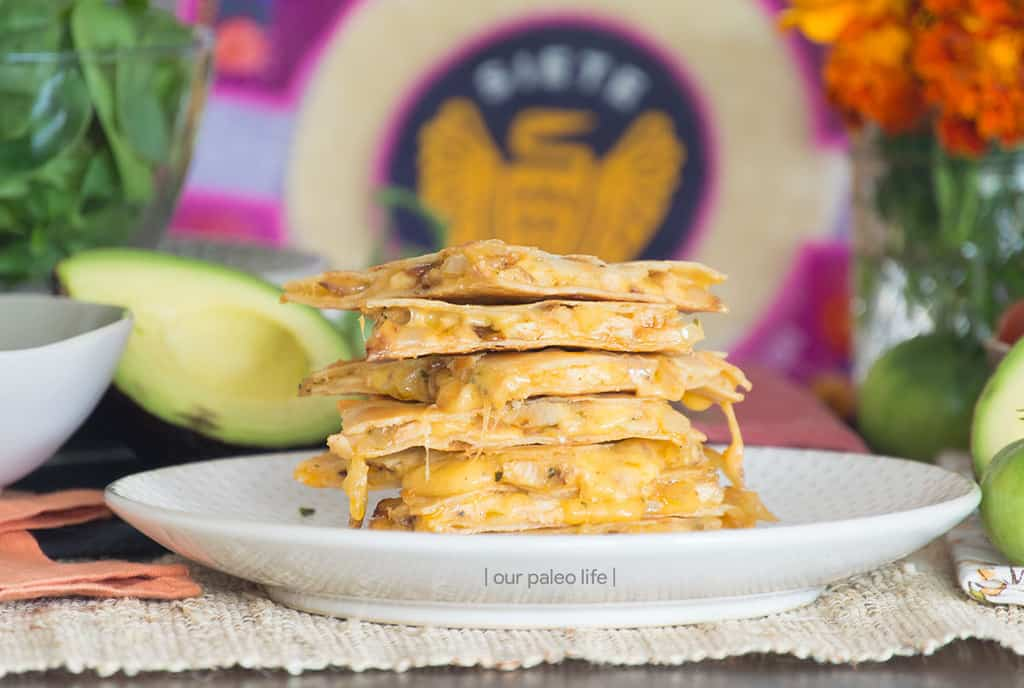 Grain Free Chicken Quesadillas {primal; kid-approved}