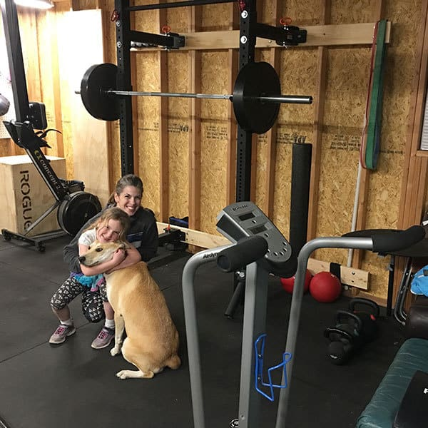Kendra in Garage Gym