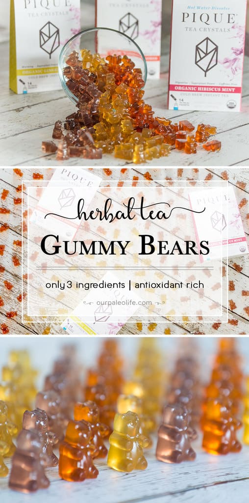 These deliciously adorable gummy bears are loaded with gut-healing gelatin, polyphenols, and antioxidants. These are perfect for kids' snacks or a way to boost your health at any time in a delicious way.