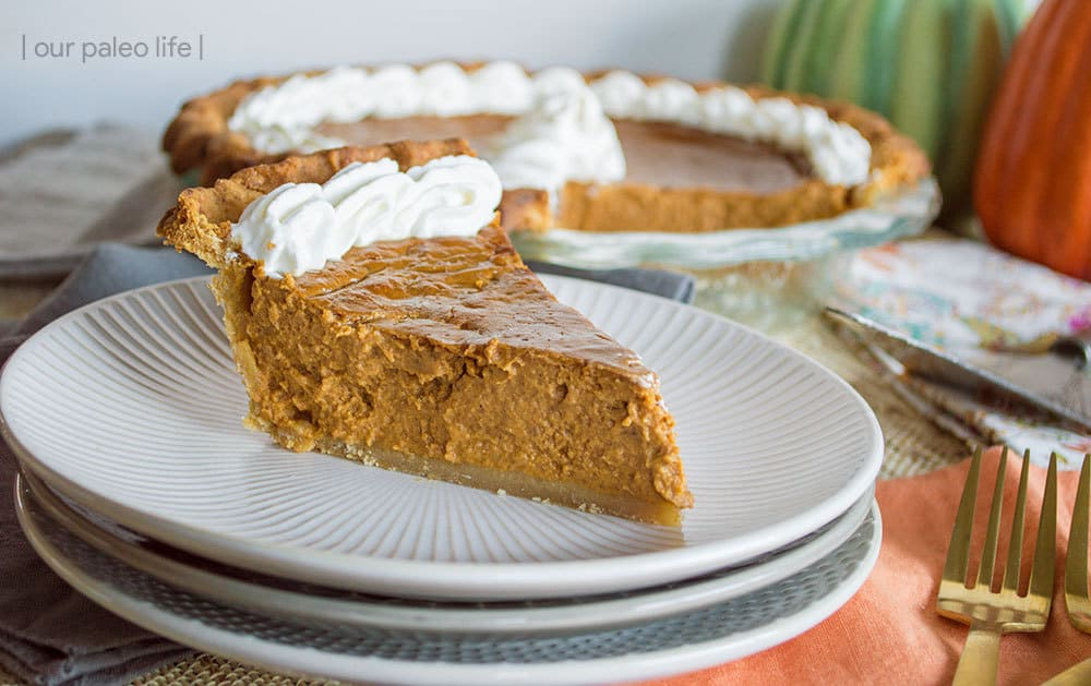 Paleo Pumpkin Pie {dairy-free; no refined sugars} by Our Paleo Life